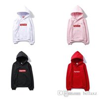 Wholesale New Arrival Supreme Box Logo Pullover Hoodie Supremes Sweatshirt Red Jacket Coat Size M XXL