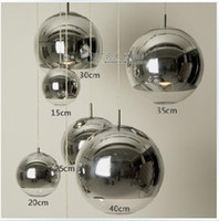 Wholesale 14 Led Mirror - Mirror Ball Pendant Light Dining room Glass Pendant lamp By Tom Dixon Design
