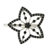 Wholesale Clip Beads For Hair - New Fashion Black Beads Big Flower Hair Pin Accessories for Women