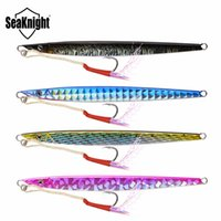 Wholesale Lead Spoons Fishing Lures - Seaknight Jigging Lure 4Pcs Lot 100G 180Mm Knife Jigging Sea Spoon Artificial Bait Boat Fishing Jig Lures Lead Fish Lure