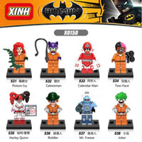 8PCS / Set Batman X0150 Series DC SuperHeroes Figure d'action Joker Catwoman Calendrier Man Models Building Blocks Toys for Children