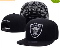 Wholesale Snapback Hats Raiders - 2017 New Black Adjustable Embroidery Oakland Raider Snapback Hats Outdoor Summer Men Basketball Caps Sun Visors Cheap Women Basketball Cap