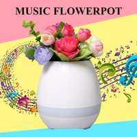 Wholesale Plant S Light - Mini Smart bluetooth Music Flower pots intelligent real plant touch play flowerpot colorful light long time play bass speaker Night light