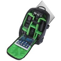 "Wholesale Bag Photographers - Upgrade Waterproof Digital DSLR Photo Padded Backpack w  Rain Cover Multi-functional Camera Soft Bag Video Laptop 15.6"" Case fr Photographer"