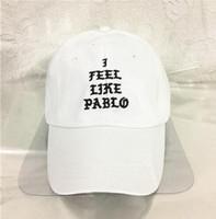 Wholesale Best Dad - I Feel Like Pablo Hat Adjustable Hip Hop Baseball Cap Yeezus Black Snapback Caps Hats for men and women dad hat drake cap Best