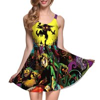 Wholesale Ball Gown 22 - Dress Plus size S-4XL 2016 New Fashion Joker Dress Cartoon printing Dress Sexy Sleeveless Vest Dresses 22 style