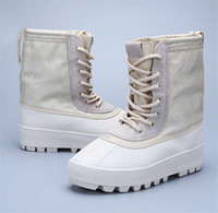 Wholesale Shoes Rhinestones Flower Heel - Cheap Kanye West Boost 950 boots Season-2 Men Boot High-Cut Women Fashion Shoes Sneakers 100% Leather with Boxes Size 36-46 Casual 750 boost