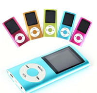 Wholesale Mp3 Player 16gb Memory - 2016 MP4 Mp3 Player 1.8 LCD Video Radio Movie FM Support 8GB 16GB 32GB Micro SD TF Memory Card 4th Generation