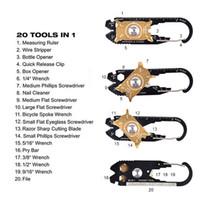 überleben keychain werkzeug großhandel-FIXR Outdoor Sports Portable Utility Tasche 20 in 1 Multifunktionsschlüssel Schraubendreher Opener EDC Survival Keychain Werkzeug Großhandel 2504026