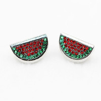 Wholesale large wholesale beads - 2017 new product DIY accessories summer watermelon spot drilling perforated alloy large concourse beads and European style