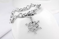 Wholesale Trinket Accessories - Tim bijouterie crystal bracelets wrist accessories for women fashion silver plated charm snowflake bracelets trinket gifts for Christmas