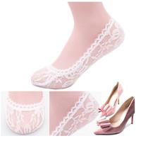 Wholesale Socks Wholesale China - Wholesale- By China Post -- Promotiona! NEW2016,women's fashion short lace socks ,black and white color slipper socks,