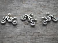ingrosso antichi motocicli-30pcs - Charms per motociclette, antichi pendenti con charms in pietra tibetana tono argento tibetano anticato 23X18mm