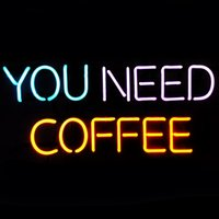 Wholesale night coffee - New Handcraft You Need Coffee Real Glass Tubes Beer Bar Pub Display neon sign 19x15!!!Best Offer!