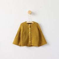 Wholesale Hand Knit Girls Cardigan - Everweekend Girls Knitted Batwing Capes Jackets Cardigans Candy Color Cute Children Tops