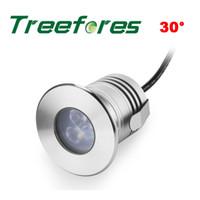 cree ip68 toptan satış-Treefores 12 ADET 3 W CREE XBD IP68 Led Spot Lamba 80Ra 12 V 24VWaterproof Led Aydınlatma CE RoHS SAA