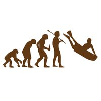 Wholesale Funny Image - Wholesale 10pcs lot History of Human Evolution Bodyboard Surfing Image of Funny Man Car Stickers Truck Minicab Bumper Car Decor Vinyl Decal