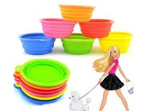 Wholesale Super Deal Foldable Dog Pet Travel Food Feeding Bowl Water Dish Portable Silicone Bowls