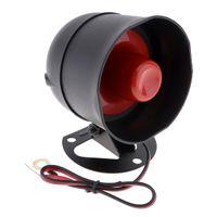 fernbedienung alarm sirene großhandel-Universal 12V Auto Auto Alarm Keyless Entry System mit Fernbedienung Sirene Sensor CAL_10F