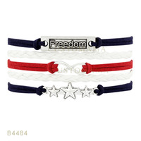Wholesale Blue Bird Jewelry - Infinity Love Owl Branches And Birds Charm Bracelets For Women Pink Black Navy Blue White Suede Leather Wrap Jewelry