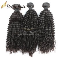 Wholesale 7a kinky curl hair for sale - Group buy Brazilian Hair Kinky Curly Virgin Human Hair Weaves Extensions Bundles Grade A Natural Color Little Curl Bellahair