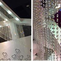 Wholesale Wholesale Diamond Shaped Beads - 5pcs 14mm New Fashion Acrylic Crystal Garland Strand Chain Hanging Diamond Bead Decor Wedding