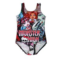 Wholesale 6t girl swimsuit for sale - Girls Swimsuits Monster High Digital Print One piece Swim Kids Costume T High Quality Polyester Fiber LG