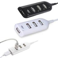 Wholesale notebook pc sale - Wholesale- Hot Sale New usb hub USB 2.0 Hi-Speed 4-Port Splitter Hub Adapter For PC Computer Notebook