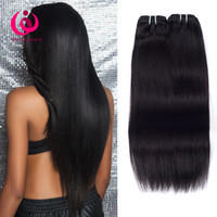 Wholesale queens hair products malaysian - Peruvian Straight Hair Weave Bundles 4pcs lot Wow Queen Hair Products Soft And Thick Unprocessed Peruvian Virgin Human Hair Extensions