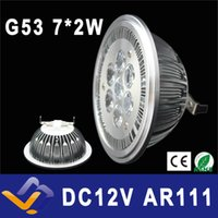 Wholesale lamp g53 - Wholesale- G53 ES111 QR111 AR111 LED lamp 14W Spotlights Warm White  Nature White Cool White Input DC 12V