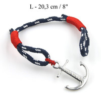 Wholesale Stainless Steel Anchor Bracelets - Real Take Top Quality stainless steel Anchor Tom Hope Bracelet Atlantic Red with Box and tag
