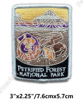 Wholesale Arizona Clothing - Petrified Forest National Park Arizona Travel Souvenir Patches Embroidered Iron On badge vacation holiday clothing diy