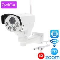 OwlCat HI3516C 1080P HD Wifi PTZ Câmera IP Bullet Outdoor 5X Pan Tilt Zoom 2.7-13.5mm 2MP Wireless IR Onvif SD Card Câmera CCTV