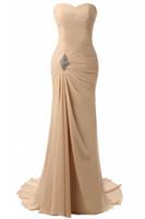 schnürte dich zurück großhandel-Auf Lager Schatzausschnitt Chiffon Lange Abendkleider Falten Lace Up Zurück Formelle Abendkleider Vestido De Noche Prom Dresses