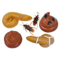 Wholesale Mask Human - Fake Human Poop Shit Cockroach Joke Toy Crap Turd Realistic Feces Funny Style Toys For Prank