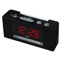 ingrosso stereo a luce rossa-Ricevitore radio FM con display a LED all'ingrosso con funzione orologio Mini radio FM portatile multifunzione FM 88 ~ 108MHZ Ricevitore radio 4 colori