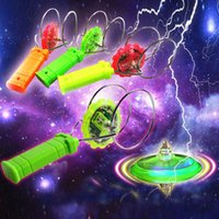 Wholesale magnetic spinning toy resale online - New Magical Gyroscopic Colorful Magic Fly Magnetic Spinning Tops Flash YO YO Children Toys Random Color ZJ0397