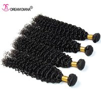 Wholesale Cheap Good Quality Bundles - Brazilian Virgin Hair 4 Bundles Kinky Curly Weaves Human Hair Bundles Cheap Brazilian Curly Virgin Hair Wefts Natural Color Good Quality