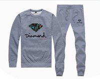Wholesale Hip Hop Pants For Women - H885045 Hot-sale Diamond Supply Sweatshirts +PANTS suit for Men and Women Fleece Lined Hip Hop Skateboard Crewneck hoodies S-4XL
