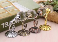 Wholesale Hanging Curtains Hooks - Large Metal Crystal Ball Curtain Hooks Tassel Wall Tie Back Hanger Holder Curtain Hanging Tools 4 colors