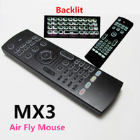 Tastiera Air mouse della mosca MX3 retroilluminato 2.4GHz Wireless Remote Control IR Learning Motion Sensing Gamer controllo per Android TV Box Smart Keyboard