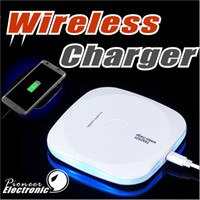 Wholesale Brand Device - Fast Wireless Charger Qi Wireless Charger Charging Pad with Anti-Slip Rubber for iPhone 8 Plus X Samsung Note 8 S8 Plus Qi-Enabled Devices