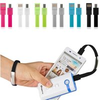 Wholesale Wristband For Mobile Phone - Wristband Micro USB Cable Micro USB Charge Data Sync Datasync For Smartphone Android Phone Mobile Bracelet Free Shipping