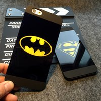 Lover Cell Phone Case Para Iphone 6 6Ss 4.7Inch 6Plus 5 5S SE Superman Batman caso Soft Silicone Frame espelho telefone tampa traseira