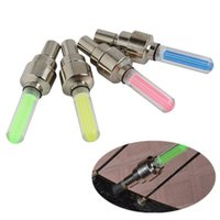 Wholesale Cycling Light Gas - Bicycle Wheel Light LED Gas Nozzle Valve Lights Lamp Core Glow Stick Light Outdoor Colorful for Cycling Drving Bicycle Accessories