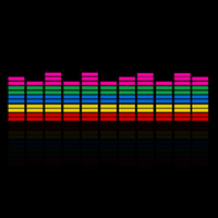 Wholesale Music Rhythm Led - Exterior Accessories Stickers 45*11cm Car Sticker Music Rhythm LED Flash Light Lamp Sound Activated Equalizer EL Sheet Rear Window Car Auto