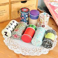 caixa de caixa de madeira venda por atacado-Caixa De Armazenamento De lata Zakka Organizador Pequeno Latas Decorativas Caixa de Flores Projeto Item Recipientes Presente Novidade Famílias