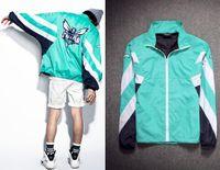 Wholesale Girs Coat - Fashion High Quality Men Harajuku Street Jacket Coats girs summer bat sleeve loose jackets boys green Windbreaker thin sunscreen clothing