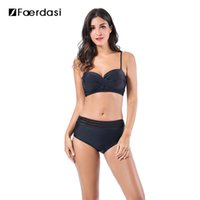 Wholesale Bikini Top Xs Push - Faerdasi 2017 High Waist Bikini Women Swimsuit Push Up Swimwear Women Brazilian Bikini Set Bathing Suit Swim Wear top+botton