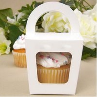 Wholesale Single Cupcake Boxes Paper Cake Box Cake Packing Boxes More Colors